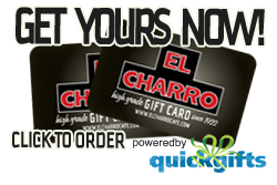 Order El Charro Cafe Gift Cards Here!