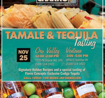 Tamale & Tequila Tasting