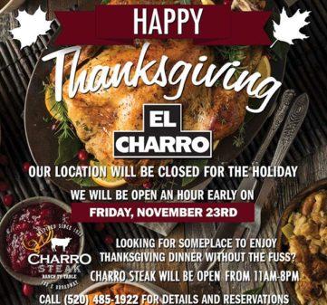 Thanksgiving – Closed